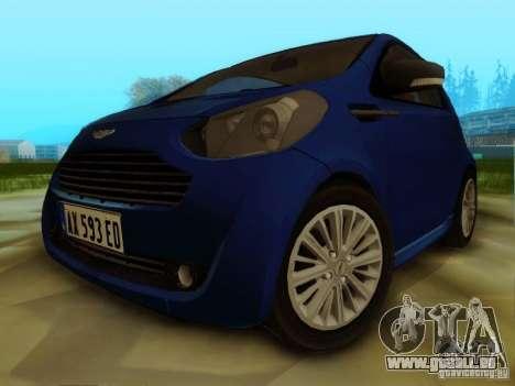 Aston Martin Cygnet pour GTA San Andreas laissé vue