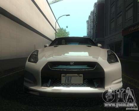 Nissan GTR R35 Spec-V 2010 Stock Wheels pour GTA San Andreas vue de côté