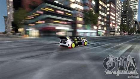 Subaru Impreza WRX STI Rallycross Monster Energy für GTA 4 Innenansicht