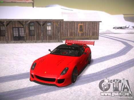 Ferrari 599XX pour GTA San Andreas vue de dessus