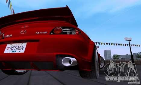 Mazda RX-8 Speed pour GTA San Andreas vue intérieure