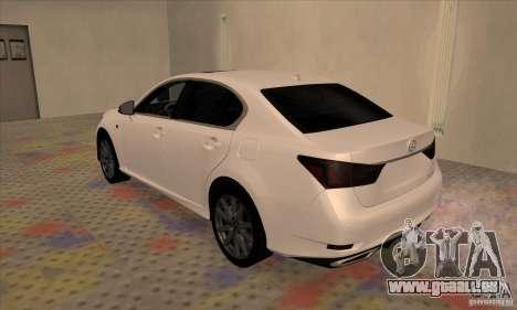 Lexus GS350 F Sport Series IV 2013 für GTA San Andreas rechten Ansicht
