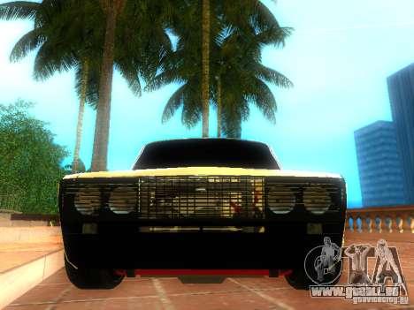 Style de VAZ 2106 dag pour GTA San Andreas vue de droite