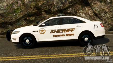 Ford Taurus 2010 CCSO Police [ELS] für GTA 4 linke Ansicht