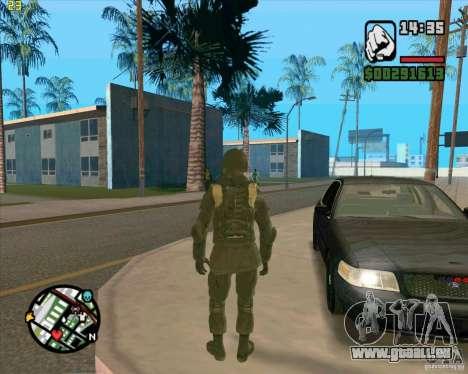 Peau SAS pour GTA San Andreas quatrième écran