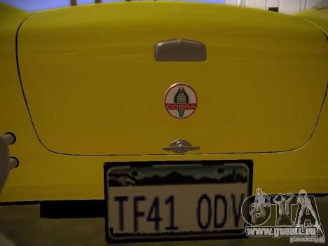 Shelby Cobra 427 pour GTA San Andreas vue de côté