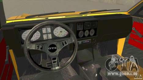 Opel Kadett D GTE Mattig Tuning für GTA San Andreas Rückansicht