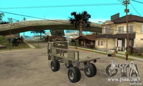 Fast Five Sand King pour GTA San Andreas sur la vue arrière gauche
