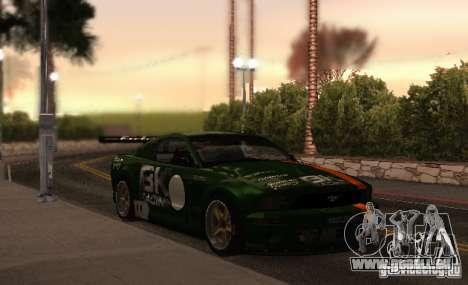 Ford Mustang GT-R pour GTA San Andreas vue de dessous