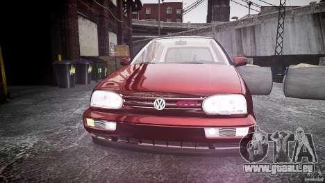 Volkswagen Golf MK3 GTI pour GTA 4 est une vue de l'intérieur