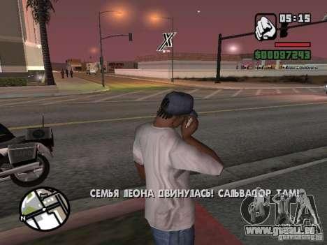 IPhone 4 g blanc pour GTA San Andreas deuxième écran