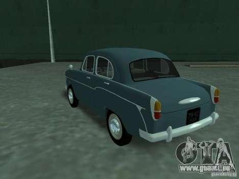 Moskvich 407 pour GTA San Andreas sur la vue arrière gauche