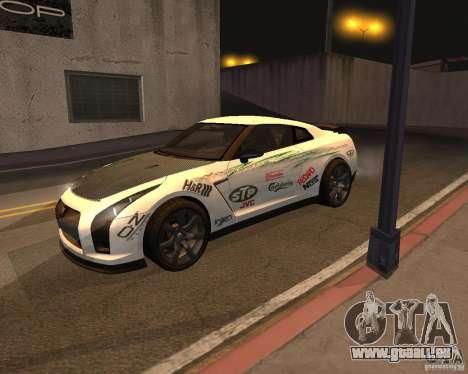 Nissan GT-R Pronto pour GTA San Andreas vue de côté