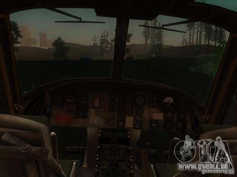 Huey Hubschrauber von Call of Duty black ops für GTA San Andreas linke Ansicht