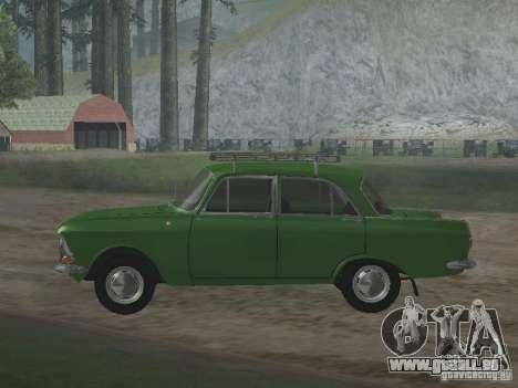 IZH 412 v3.0 pour GTA San Andreas sur la vue arrière gauche