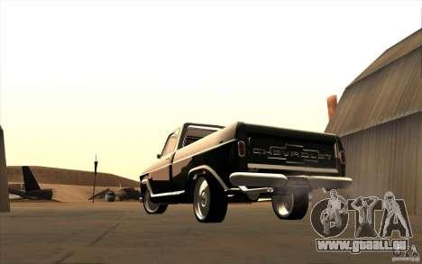 Chevrolet C-10 Fixxa pour GTA San Andreas vue de droite