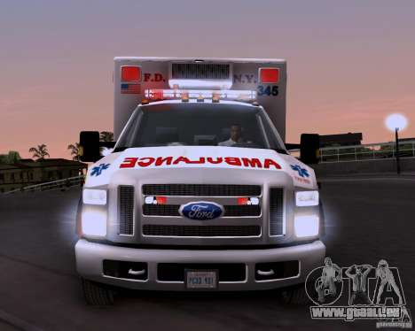 Ford F-350 F.D.N.Y pour GTA San Andreas vue arrière
