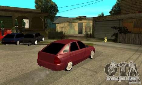 VAZ Lada Priora 2172 LT pour GTA San Andreas vue de droite