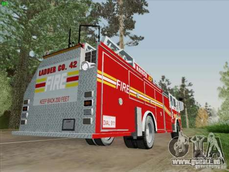 Seagrave Ladder 42 für GTA San Andreas Rückansicht