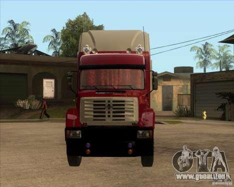 Super Zil v 2.0 pour GTA San Andreas vue arrière