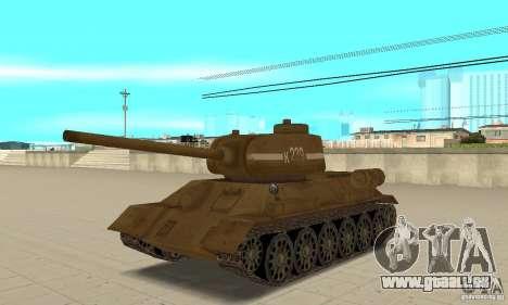 Réservoir T-34 pour GTA San Andreas