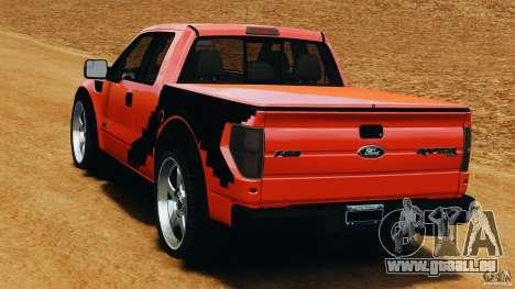 Ford F-150 SVT Raptor pour GTA 4 Vue arrière de la gauche