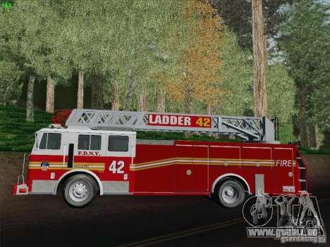 Seagrave Ladder 42 pour GTA San Andreas vue intérieure