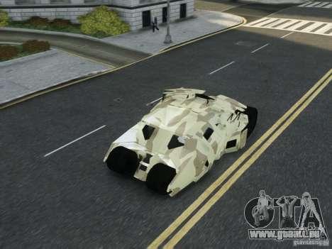 HQ Batman Tumbler pour GTA 4 vue de dessus