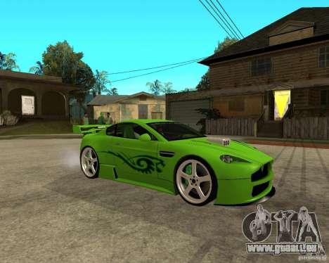 Aston Martin Vantage V8 - Green SHARK TUNING! pour GTA San Andreas vue de droite