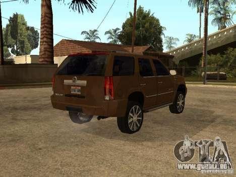Cadillac Escalade für GTA San Andreas zurück linke Ansicht