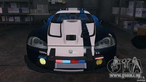 Dodge Viper SRT-10 ACR ELITE POLICE [ELS] pour GTA 4 est un côté
