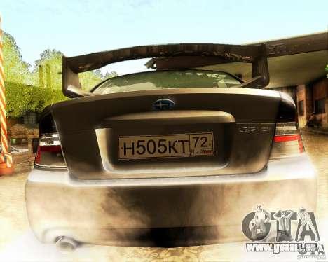 Subaru Legacy 3.0 R tuning für GTA San Andreas Innenansicht