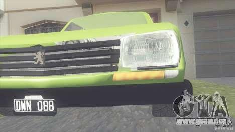 Peugeot 504 für GTA San Andreas Innenansicht