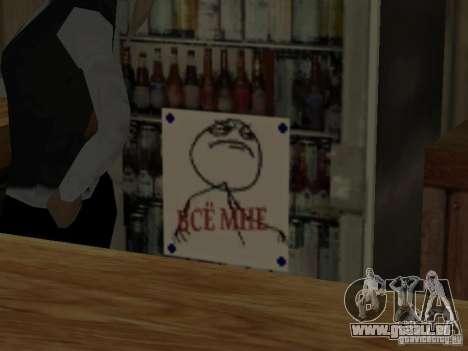 Bar FUCK Oui pour GTA San Andreas troisième écran
