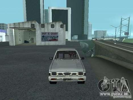 Nissan Pick-up D21 für GTA San Andreas Unteransicht