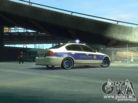 BMW 320i Police pour GTA 4 Vue arrière