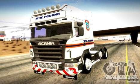 Scania R620 Emercom Romanow für GTA San Andreas Seitenansicht