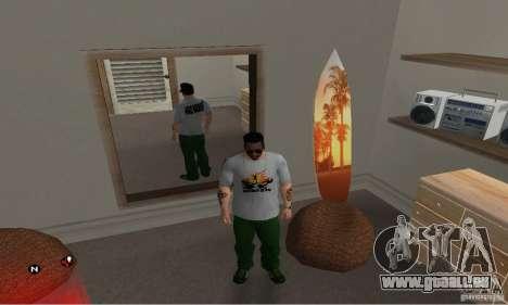 Grüne Tag T-shirt für GTA San Andreas zweiten Screenshot