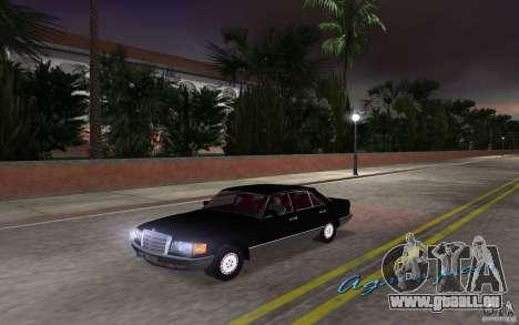 Mercedes-Benz W126 500SE pour une vue GTA Vice City de la droite