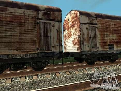 Refrežiratornyj wagon Dessau no 4 Rusty pour GTA San Andreas vue de droite