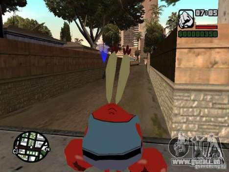 Mr. Krabs für GTA San Andreas sechsten Screenshot
