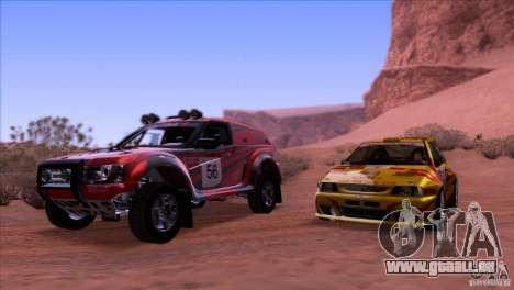 Seat Ibiza Rally für GTA San Andreas obere Ansicht
