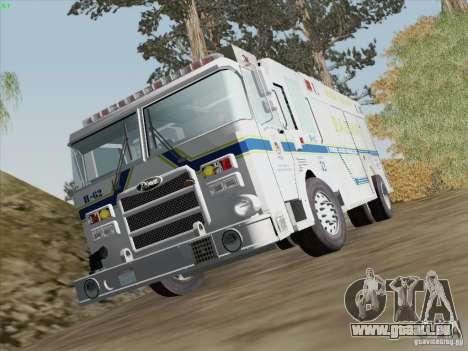 Pierce Fire Rescues. Bone County Hazmat für GTA San Andreas Unteransicht