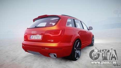 Audi Q7 LED Edit 2009 pour GTA 4 est une vue de l'intérieur