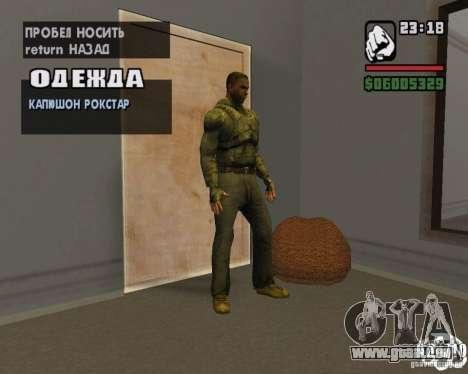 Vêtements d'un harceleur pour GTA San Andreas deuxième écran