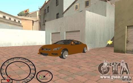 Infiniti G37 Vossen pour GTA San Andreas vue de droite