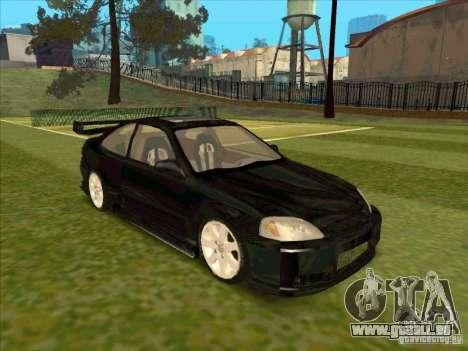 Honda Civic Coupe 1995 from FnF 1 pour GTA San Andreas vue de droite