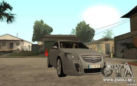 Opel Insignia OPC 2010 pour GTA San Andreas vue arrière