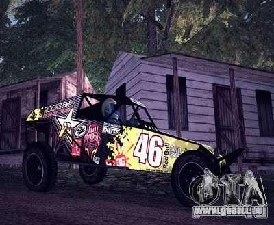 Buggy Monster-Energie für GTA San Andreas linke Ansicht