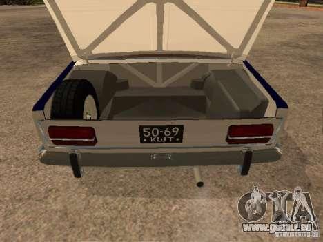 Police Vaz 2103 pour GTA San Andreas vue intérieure